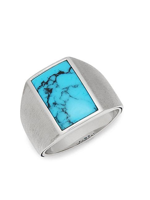 Effy Sterling Silver & Turquoise Ring