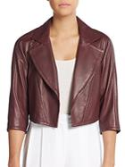 Yigal Azrouel Cropped Leather Blazer