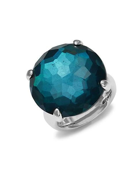 Ippolita Blue Doublet Quartz Cocktail Ring