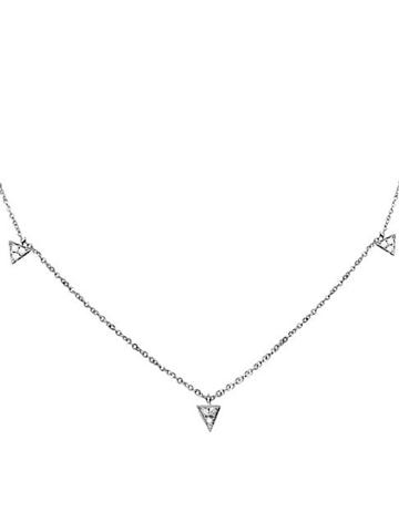 Diana M Jewels Diamond And 18k White Gold Necklace