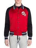 Lanvin Lobster Colorblocked Satin Jacket