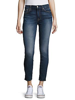7 For All Mankind Cropped Ankle Jeans
