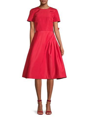 Oscar De La Renta Bell Silk Dress