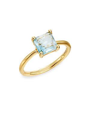 Ippolita Rock Candy Blue Topaz & 18k Yellow Gold Ring