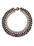 Tataborello Beaded High-neck Necklace