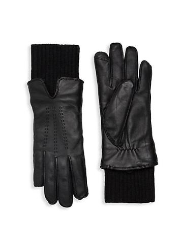 Saks Fifth Avenue Fownes Faux Fur-lined Leather Gloves