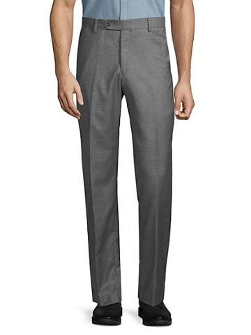 Saks Fifth Avenue Houndstooth Flannel Dress Pants