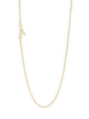 Baublebar Diamanda Alpha 14k Goldplated A-necklace