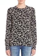 Equipment Sloane Leopard-print Cashmere Sweater