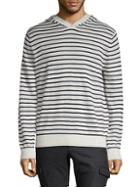 Vince Striped Pullover Hoodie