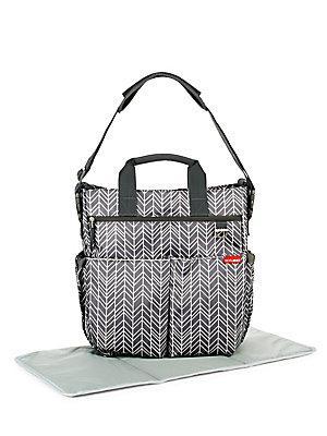 Skip Hop Grey Feather Duo Diaper Bag