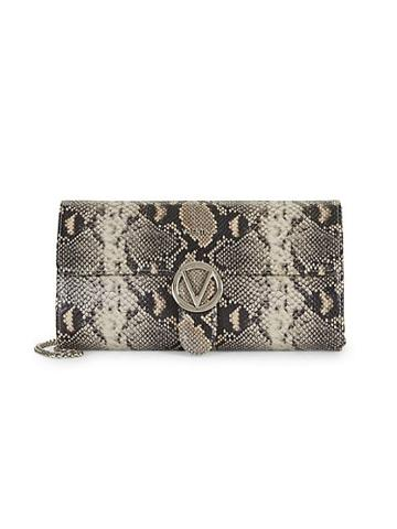Valentino By Mario Valentino Mabelle Python-embossed Clutch