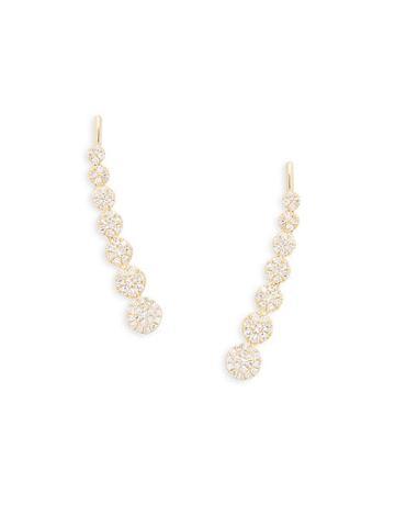 Diana M Jewels 14k Yellow Gold & Diamond Crawler Earrings