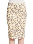 Peserico Floral Pencil Skirt
