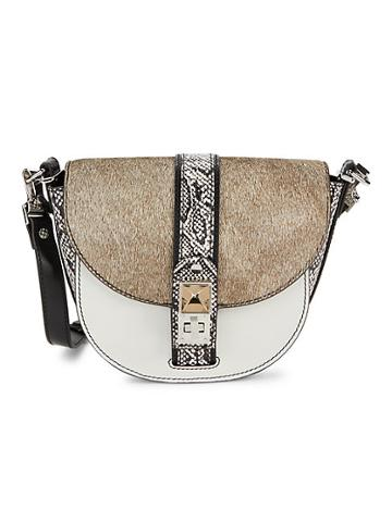 Proenza Schouler Small Ps11 Calf Hair & Snakeskin-print Leather Saddle Bag