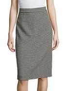 Escada Patterned Pencil Skirt
