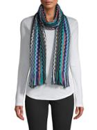 Missoni Fringe-trim Wool-blend Wraparound Scarf