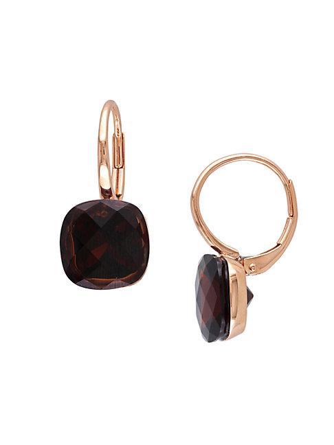 Sonatina 14k Rose Gold & Garnet Earrings