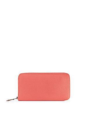 Herm S Vintage Pink Epsom Silk'in Wallet
