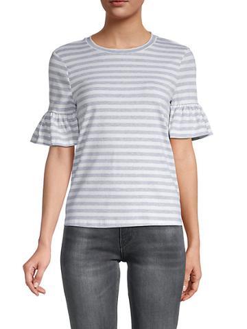 English Factory Ruffle Stripe T-shirt