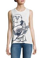 True Religion Printed Pima Cotton Sleeveless Top