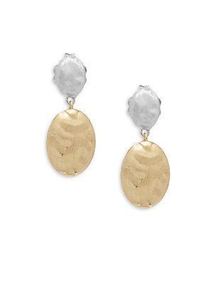 Marco Bicego 18k Gold Embossed Dangle & Drop Earrings
