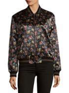 Saint Laurent Floral Zip-up Jacket