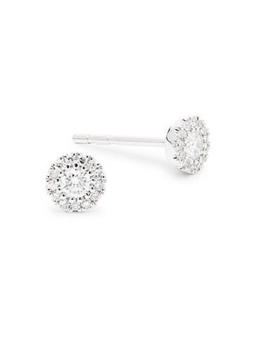 Diana M Jewels 14k White Gold & Diamond Round Studs