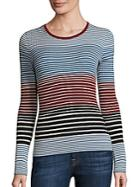 Theory Mirzi Striped Merino Wool Sweater