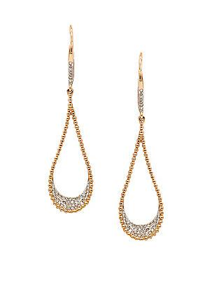 Diana M Jewels Diamond And 14k Rose Gold Teardrop Earrings
