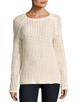 Zero Degrees Celsius Perforated Wool-blend Pullover