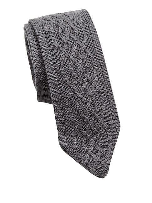 Hook + Albert Charcoal Cableknit Tie