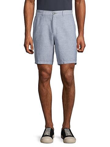 Saks Fifth Avenue Heathered Linen Shorts