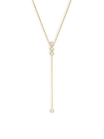 Diana M Jewels 14k Yellow Gold & Diamond Lariat Necklace