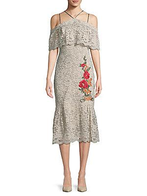 Nicole Miller New York Lace Midi Dress