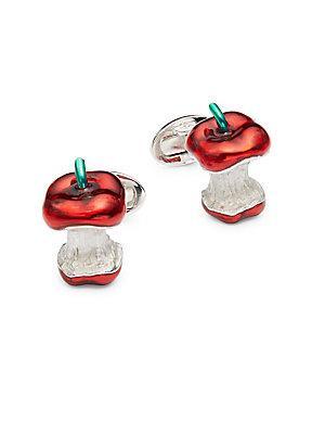 Jan Leslie Bitten Apple Sterling Silver Cuff Links