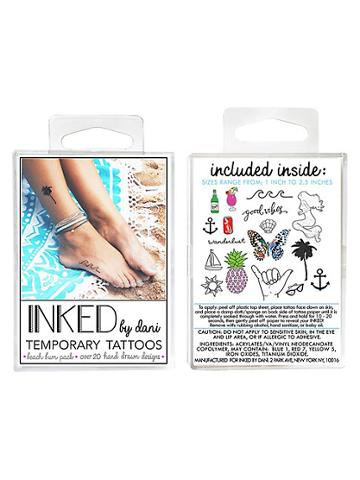 Inked By Dani Temporary Tattoos Beach Bum Pack