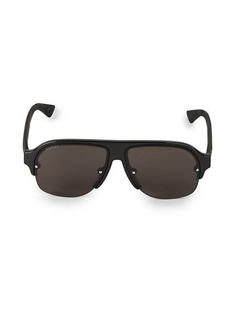 Gucci 60mm Aviator Sunglasses