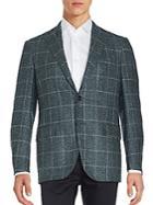 Corneliani Wool Blend Teakweave Coat