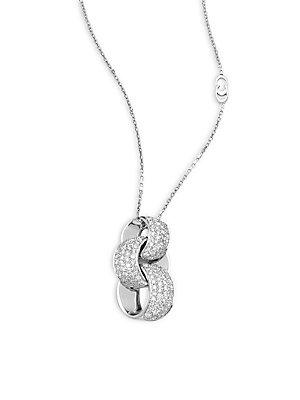 Chimento Link Infinity Diamond & 18k White Gold Pendant Necklace