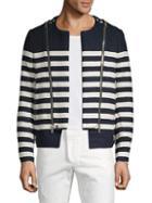 Balmain Striped Cotton Blend Jacket
