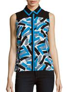 Calvin Klein Sleeveless Printed Top
