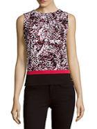 Calvin Klein Colorblock Printed Top