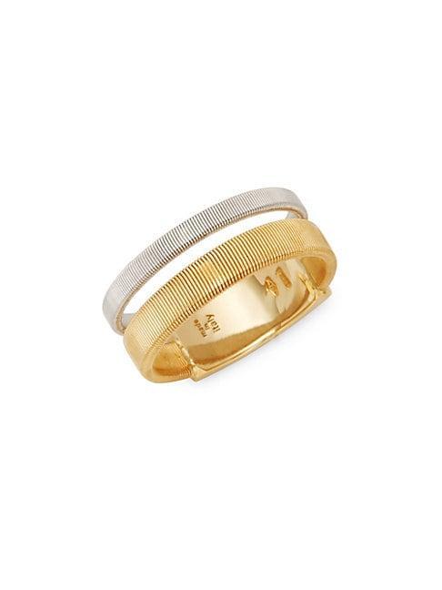 Marco Bicego Masai 18k White Gold & 18k Yellow Gold Ring