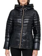 Karl Lagerfeld Paris Hooded Puffer Down Coat