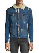 Rnt23 Embroidered Denim Jacket
