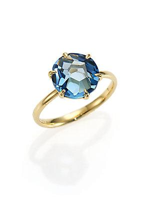Ippolita Rock Candy London Blue Topaz & 18k Yellow Gold Ring