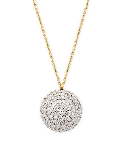 Gurhan 22k Yellow Gold & 18k White Gold Diamond Pendant Necklace