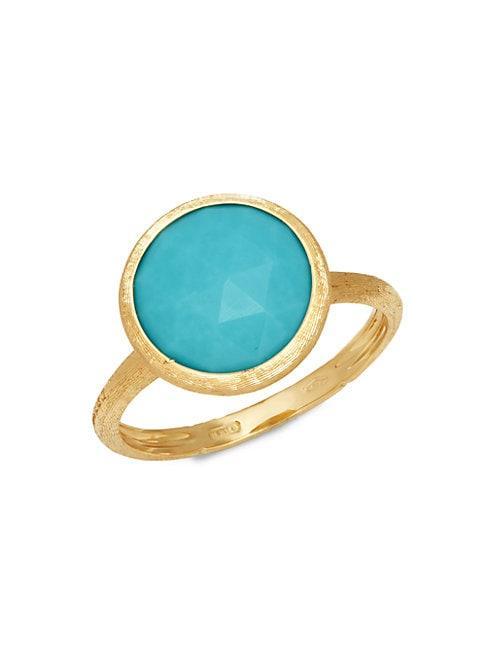 Marco Bicego Jaipur Resort 18k Yellow Gold & Turquoise Ring