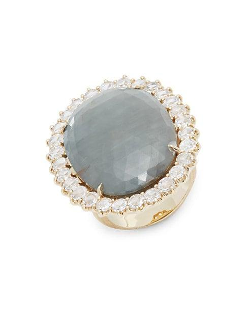 Marco Bicego Gray Sapphire & Diamond Cocktail Ring